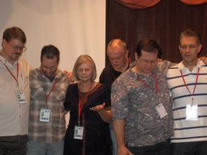 Group praying