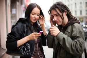 2 people listening